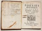 POÉSIES DIVERSES.. L. D. S. E. Q. V. [MAILHOT (Grégoire)].