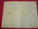 Lettre manuscrite d'un soldat à ses parents . VIE MILITAIRE REGIMENT 1905 / Lettre manuscrite d'un soldat à ses parents