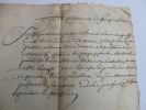 RARE MANUSCRIT 1662 LATIN OCCITAN ou VIEUX FRANCAIS.