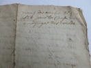 RARE MANUSCRIT 1666 LATIN OCCITAN ou VIEUX FRANCAIS.