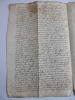 RARE MANUSCRIT 1640 LATIN OCCITAN ou VIEUX FRANCAIS.