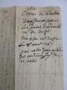 RARE MANUSCRIT 1611 LATIN OCCITAN ou VIEUX FRANCAIS.