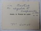 CARTE DE VISITE Angel A. Ponce de Leon Peintre contemporain. Angel A. Ponce de Leon