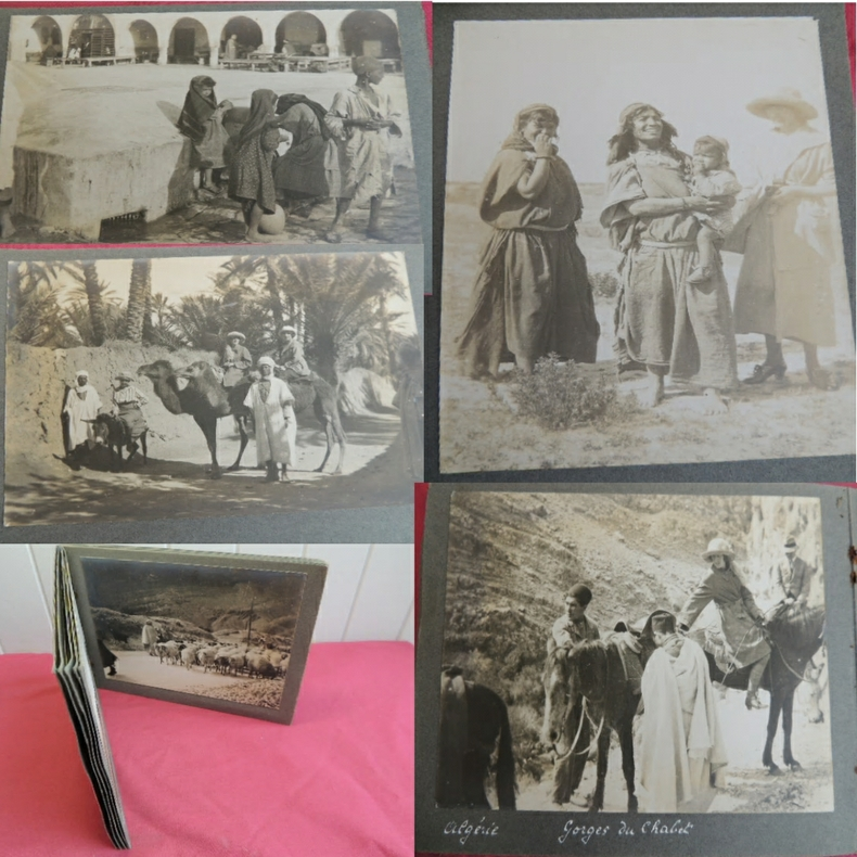 VOYAGE ALGERIE ET TUNISIE 1940/1950 Album 26 photographies .