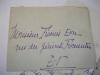 LAS Alphonse Métérié (Poète) à Françis Eon 9 février 1925. Alphonse Métérié