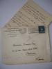 Lettre autographe de Benoit Bouché à Françis Eon 1938 LAS + enveloppe timbrée.  Benoit Bouché