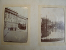 ALBUM PHOTOGRAPHIES ANCIENNES 1907/1910 inondations de Paris / Militaria / Automobiles / Bourgeoises ...