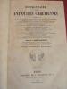 DICTIONNAIRE DES ANTIQUITÉS CHRÉTIENNES. A. Martigny