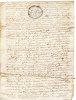 REGION AUVERGNE / LETTRE DOCUMENT MANUSCRIT 1669 Latin Vieux Français 4 pages.