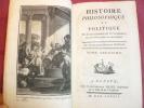HISTOIRE DU COMMERCE DANS LES DEUX INDES TII Anglais & Français. Guillaume Thomas Raynal