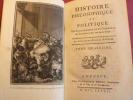 HISTOIRE DU COMMERCE DANS LES DEUX INDES Raynal TIV Conquetes des Espagnols. Guillaume Thomas Raynal
