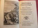 HISTOIRE DU COMMERCE DANS LES DEUX INDES Raynal TIX Colonies Anglaises Amérique. Guillaume Thomas Raynal