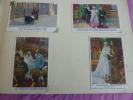 BELGIQUE / ALBUM KONINGIN ASTRID 76 cartes couleur famille Royale 1935 .