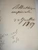 . 2 L.A.S signée Eugène Cortambert 1844 & 1867 Bibliothèque impériale Rare !