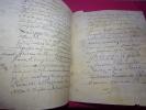 XVIe siècle / LETTRE / DOCUMENT 4 pages manuscrites SUR VELIN .