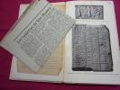 LES TABLETTES BABYLONIENNES ce qu'on écrivait sur l'argile. Edward Chiéra