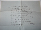 LETTRE AUTOGRAPHE A.Parmentier à Françis Eon LAS + enveloppe. A.Parmentier