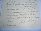 Billet Autographe Signé . CLARETIE (Jules)