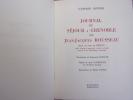 Journal du séjour à Grenoble de J.J Rousseau. Gaspard Bovier