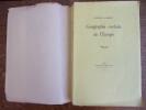 Géographie cordiale de l'Europe. Georges Duhamel