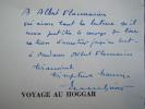 Voyage au HOGGAR. Envoi autographe à Albert Flammarion.. Emmanuel GREVIN
