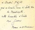 Jean Giono ce solitaire. Avec des inédits et une bibliographie.. ( GIONO Jean ) -  VILLENEUVE Romée de.