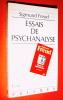 Essais de psychanalyse.. FREUD Sigmund