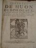 Histoire de Huon de Bordeaux, Pair de France, Duc de Guienne, contenant ses faits et actions Héroïques, mise en deux livres aussi beaux et ...