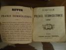 Almanach de la France démocratique 1846, deuxième année.. Collectif.