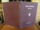 Bibliothèque de Sir A.. Livres anciens, exemplaires imprimés sur peau de vélin. Architecture - Antiquités - Décoration. Histoire naturelle, livres ...