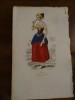 Lithographie XIXème en couleurs représentant une Dame de la Haute société de Java..