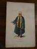 Lithographie XIXème en couleurs représentant un Turc de Merdin..