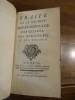 Traité de la Culture des Renoncules, des Oeillets, des Auricules et des Tulipes.. Moët, Jean-Pierre
