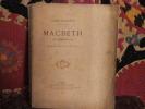 Macbeth (de shakespeare), drame en cinq actes , en vers.. Lacroix, Jules.