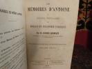 Les mémoires d'Antoine ou notions populaires de morale et d'économie politique.. Rondelet, Antonin.