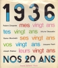 1936. Nos vingts ans.. CHAPATTE Robert, Michel DECAUDIN, Xavier MARCHETTI, Jacques PAOLI, Joseph PASTEUR.
