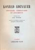 SOUVENIRS, TEMOIGNAGES ET DOCUMENTS recueillis par Paul Weymar.. ADENAUER Konrad.