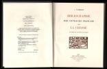 BIBLIOGRAPHIE DES OUVRAGES FRANCAIS SUR LA CHASSE. THIEBAUD Jules