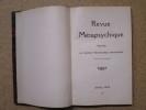 REVUE METAPSYCHIQUE : bulletin de l'Institut Métapsychique International. Du N°1 (janvier-février 1922) au N°6 (novembre-décembre 1922)..