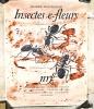 INSECTES ET FLEURS. Affiche de Hand Erni. 1954 . MAURICE MAETERLINCK / HANS ERNI