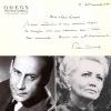Carte autographe signée à la comédienne et sociétaire de la Comédie Française Louise Conte à propos de son rôle dans La Maison de Bernada de Federico ...