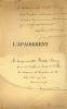 Deux beaux envois autographes signés à la comédienne Berthe Cerny. George Bonnamour / Berthe Cerny / Aristide Briand