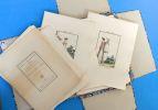 Modes et Manières du Jour, à Paris, à la Fin du 18ème Siècle et au Commencement du 19ème; Collection de 52 Gravures Coloriées. Debucourt, ...