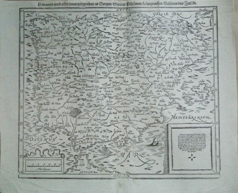 Hispanien nach aller seiner gelegenheit in Bergen, Stetten, Doelctreren, Koenigreichen, Maesseren und Inseln. Münster, Sebastian (1489-1552)