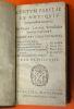 Centvm fabulæ ex antiqvis scriptoribus acceptæ, et Graecis, Latinisque Tetrastichis Senarijs explicatæ à Fabio Pavlino Vtinensi. Gabriæ Græci fabulæ, ...