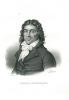 PORTRAIT DE CAMILLE DESMOULINS, Lithographie de MAURIN en noir & blanc représentant le buste de C. Desmoulins, avocat. [DESMOULINS (Camille)]