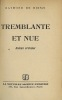 TREMBLANTE ET NUE, Roman criminel. RIENZI (Raymond de)