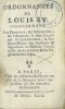 ORDONNANCES DE LOUIS XV CONCERNANT LES DONATIONS, LES INSINUATIONS, LES TESTAMENS, LE FAUX PRINCIPAL, LE FAUX INCIDENT, LA RECONNOISSANCE DES ...