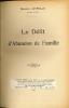 LE DÉLIT D'ABANDON DE FAMILLE. LATREILLE (Maurice)