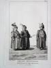 GRAVURE ORIGINALE. Enfants musulmans, dans les jours de leur circoncision. Animaux destinés aux sacrifices.  Planche originale issue du Tableau ...